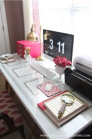 Dwellings By DeVore: DIY nailhead door desk