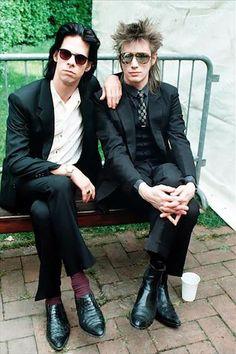 Nick Cave & Blixa Bargeld - Real men swag like this folks. ;)