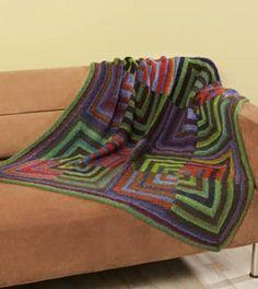 Mod Mitered Blanket | AllFreeKnitting.com