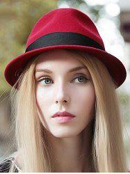 Streetwear Wide Band Jazz Felt Hat