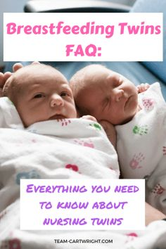 Answers to all your breastfeeding twins questions! How to nurse twins on your own, tandem nursing, breastfeeding pillow tips, and more! Expecting Twins, Newborn Twins, Breastfeeding And Pumping, Newborns, Pregnant With Twins, Breastfeeding Pillow, Twin Mom, Twin Babies, Twins Schedule