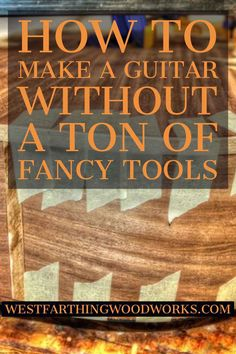 I wrote this to simplify a lot of the instructions and directions that are in the other guitar making books. It also teaches you how to make your own tools, apply finishes, and in many ways make your first guitar easier. Build Your Own Guitar, Learn To Play Guitar, Guitar Diy, Guitar Crafts, Guitar Neck, Cigar Box Guitar, Guitar Building, Guitar Design, Classical Guitar