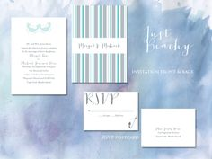 Beach wedding invitations from Lasso'd Moon