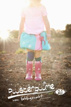 Loveley Skirt - Pusterblume - for kids - sewing - diy - german