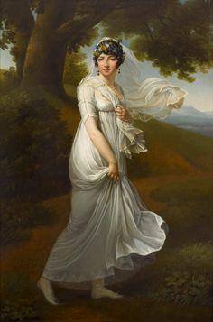 Anonyme, Portrait présumé de Caroline Murat. Rueil-Malmaison - Musée national du château © RMNGP