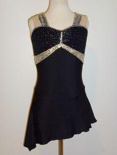 Custom Made to Fit Beautiful Figure Ice Skating Dress | eBay