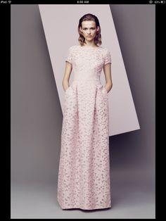 Escada - 2014 -- blush pink, pockets, lace ... adorable.