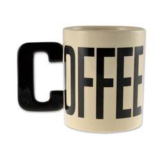 Alpha Mug Tasse COFFEE. Hier bei www.closeup.de