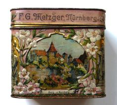 German biscuit tin by Metzger