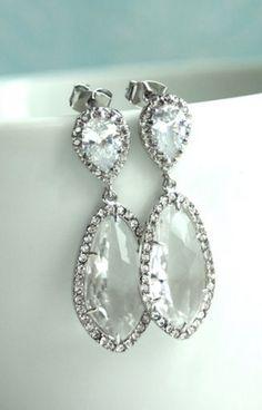 Gorgeous wedding earrings