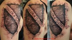 shield ripped skin tattoo