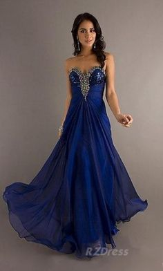 prom dress long sparkles blue