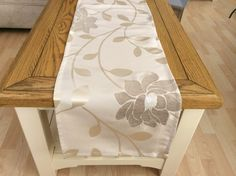 Stunning cream with large beige flower by Janellehometextiles