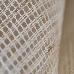 habu - sansuro : hand-woven leno . hand-tied rami yarn