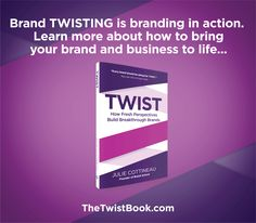 Look out of your category at successful brands for inspiration - then apply those best practices by TWISTING them with your brand and business to help you stand out.... More on how to brand TWIST in TheTwistBook.com. Create Yourself, Finding Yourself, Big Twist, Business Offer, How To Apply, How To Get, Brand Story, Of Brand, New Books