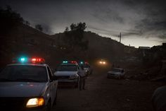 Darkest before dawn: Police in Nogales perform a security sweep in the poor neighborhoods of the city looking for drug dealers and drug users Mexican Drug War, Drug Cartel, War On Drugs, Contemporary Photography, Photojournalism, Mexico City, Change The World, The Neighbourhood, Explore