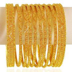 22kt Gold indian  bangles set