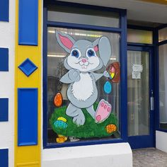 Easter Bunny window painting window splash