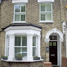 a look at this modernised Victorian terraced house in London Victorian Terrace with black front door MoreThe Take Take or The Take may refer to: Victorian Front Garden, Victorian Terrace Interior, Victorian Front Doors, Victorian Homes, Victorian House London, Victorian Windows, Victorian House Interiors, Terrace House Exterior, Black Front Doors