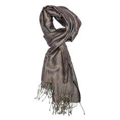Dark Slate Gray Jamavar Silk Scarf