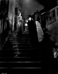 Silent Film Photography: The holy grail of silent film, London after Midnight, 1927 by Tod Browning, is a lost film – the last remaining copy is thought to have been burned in a fire at the MGM vault in 1967. This still, by Bert Longworth, stars Lon Chaney and Edna Tichenor playing the ghoulish and mysterious strangers who appear in a dead man's house five years after his apparent suicide.