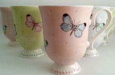 Mugs Butterflies en colores pasteles...cual es tu preferido?