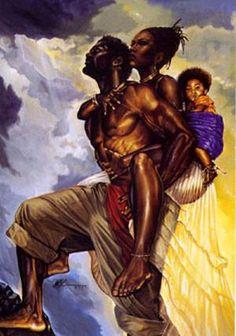 Black love art - as one print wak Art Beauté, Afrique Art, Black Art Pictures, Pictures Images, Bing Images, Photos, By Any Means Necessary, Art Africain, Black Artwork