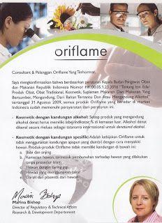 Mengenai Sertifikat Halal nya Oriflame