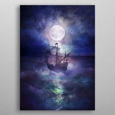 High-quality metal print from amazing Sea Love collection will bring unique style to your space and will show off your personality.Displate is truly amazing licensed art printed on magnet-mounted metal. It's durable, it's steel. Art Prints, Metal Posters, Metal Prints, Fine Art, Canvas Prints, Painting, Art Licensing, Art, Canvas Art