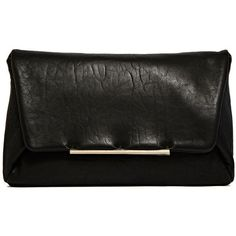 Lanvin Leather Envelope Clutch Bag ($710) ❤ liked on Polyvore featuring bags, handbags, clutches, black, genuine leather purse, lanvin, real leather handbags, leather envelope clutch bag and leather clutches