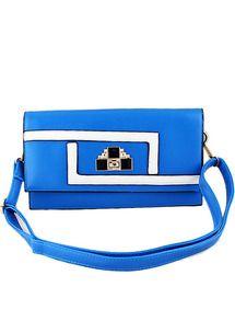 sac à breloque -bleu