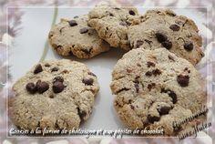 Cookies à la farine de châtaigne et aux pépites de chocolat du blog Gourmande sans gluten
