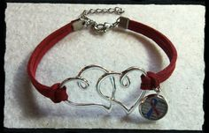 Double hearts CHD awareness suede leather by EllasHeartDesigns Chd Awareness, Create Awareness, Congenital Heart Defect, Heart Conditions, Mother Jewelry, A Child Is Born, My Beautiful Daughter, Suede Leather, Hearts