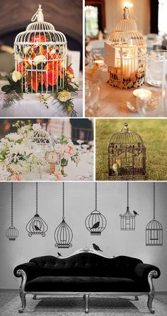 voliere decorative per il matrimonio