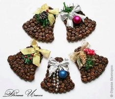 Christmas Coffee bean bells