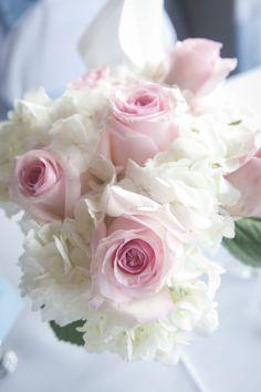 Rose and Hydrangea Centerpiece