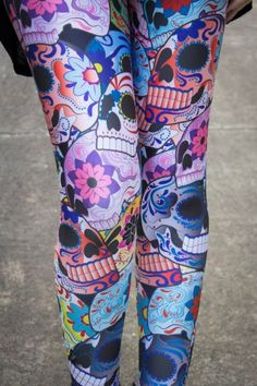 Day of the Dead tights