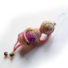 Pendrak różowy - brelok w SolmilarArt na DaWanda.com