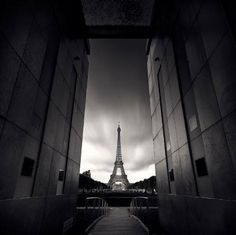 Unique perspective on the Eiffel Tower