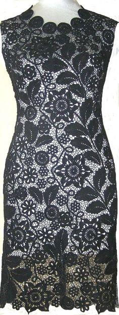 Купить или заказать Платье вечернее 'Роксана'. Ирландское кружево в интернет-магазине на Ярмарке Мастеров. Платье вечернее. Длина - выше колен. Выполнено из мерсеризированного хлопка. Сеточка из швейных ниточек. На спинке застеджка на пуговицу и вырез 'капелька'. Выполню аналогичную работу в любом цвете и размере. Выполню к платью трикотажкую подкладку любого…