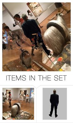 """""""RAUSCHENBERG: AMONG FRIENDS # 19"""" by harrylyme ❤ liked on Polyvore featuring art and modern"""