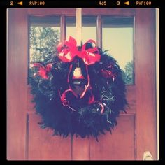 DIY UGA wreath. Go Bulldogs!