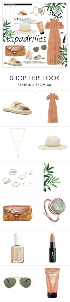 """""""Step into Summer: Espadrilles"""" by mars ❤ liked on Polyvore featuring Joie, Rachel Zoe, Natalie B, rag & bone, MANGO, MICHAEL Michael Kors, NYX, Chloé, Givenchy and Christian Dior"""