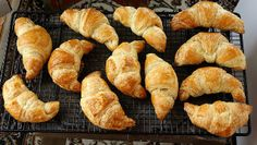 delicious homemade croissants. Easy to follow recipe. involved but not hard to make. I added some chopped chocolate into the croissants, near the base as i rolled them up and shaped them, to make Pain Au Chocolate. Delicious for dessert! Of course they are good plain, also.