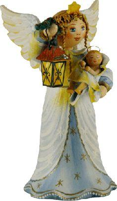 """Sammlerfiguren Jahresengel 2007 """"Christkind im Laternenschein"""""""