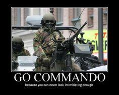 military humor pictures | Tags: commando , intimidating , machine gun