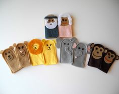 I've been working on lots of animal puppets lately. A Noah's Ark set, a farm set, a whole army of elephants (more on that later) and variou...
