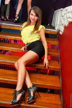 Bulgarische Frau lange Beine