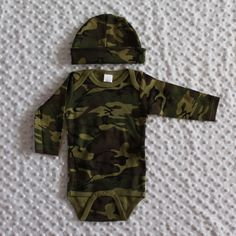 Newborn Coming Home Outfit Camo Set Monogrammed by nachobaby, $30.00