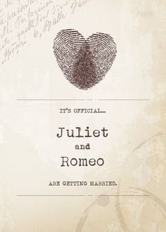 Romantic Fingerprint Heart Wedding Invitation
